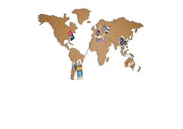 Ilmoitustaulun maailmankartta 140cmx75 cm
