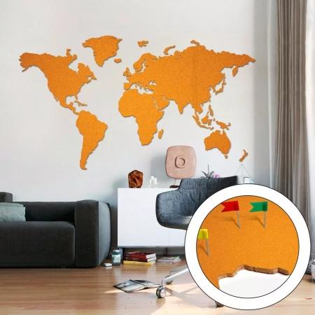 Ilmoitustaulun maailmankartta iso punainen